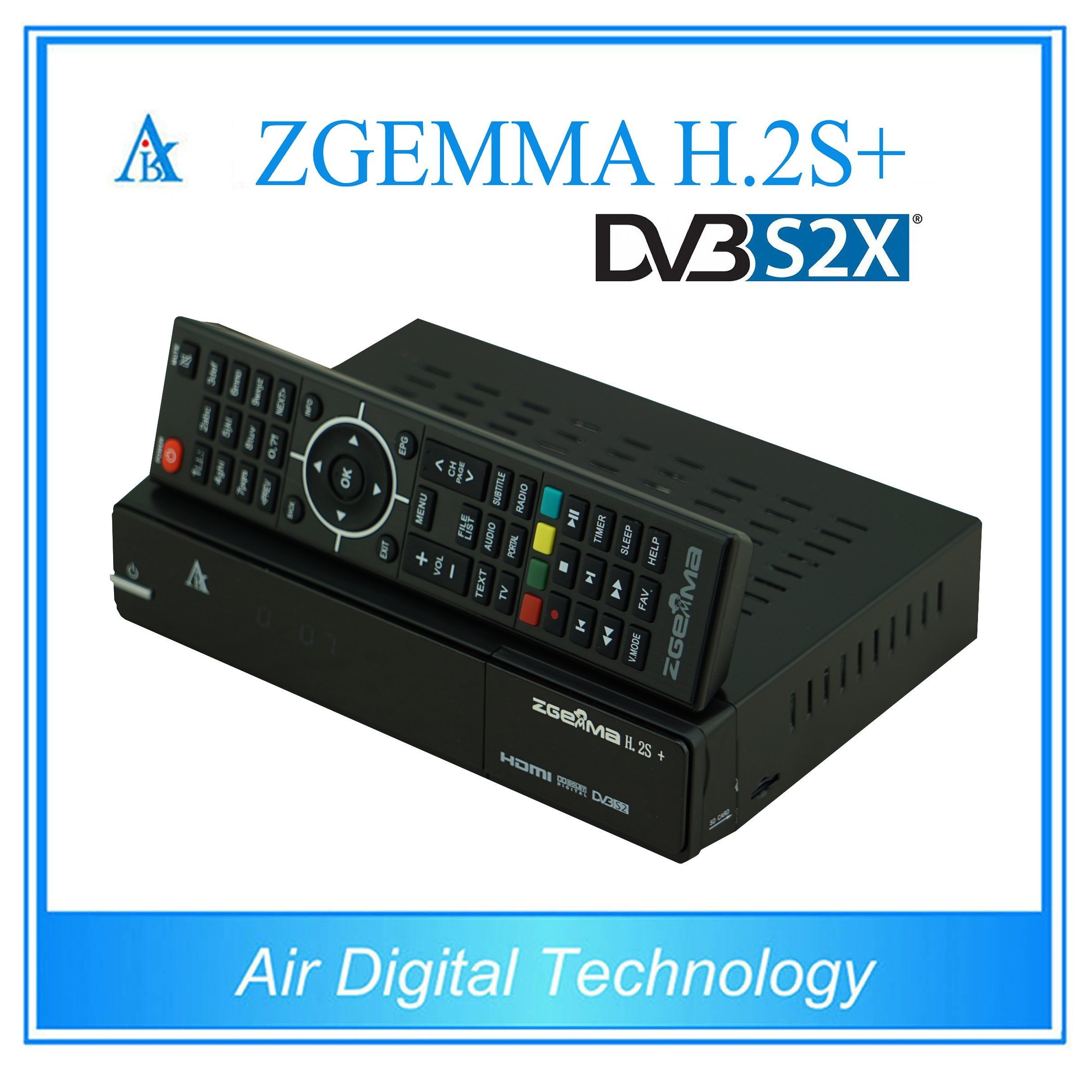 S2X TV Box DVB S2 + DVB S2X + DVB T2/C Zgemma H. 2s+