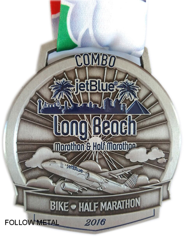 Award Medal for Half Marathon Festival, Finisher, 3D Logo