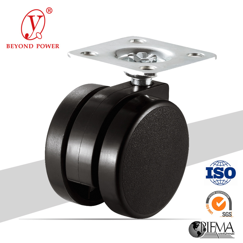 High Performance Caster Swivel Office Chair Caster Stable Quality Rubber Wheel Top Plate Caster Wheel Furniture Castor