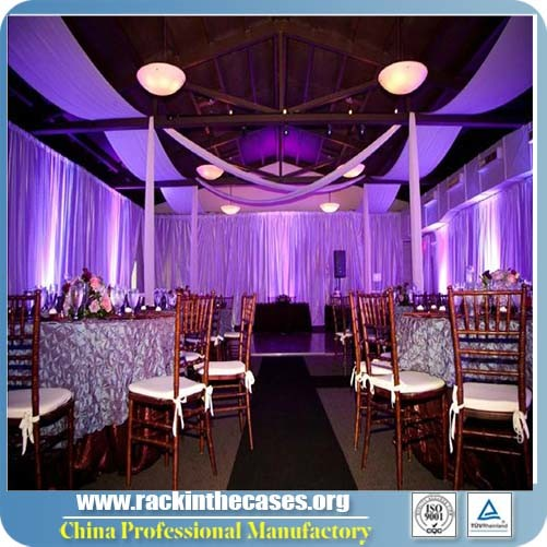 Fireproof Backdrop with Portable Stage Stand for Sale (RK-TS1120)