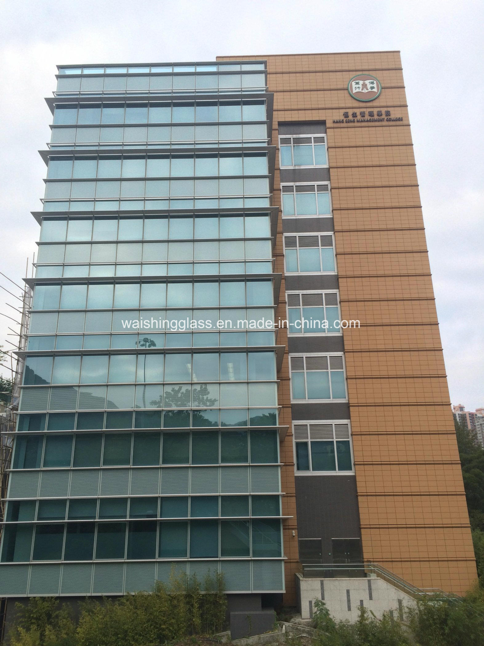 10/12/15/19mm Clear Tempered/Toughened Glass for Curtain Wall