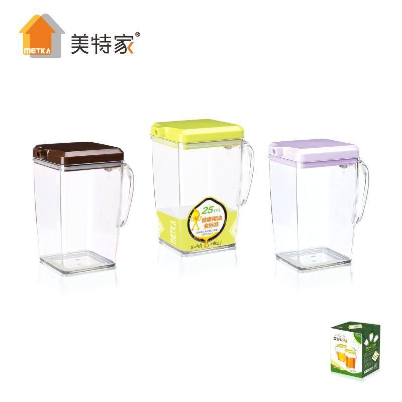 Metka Household Kitchen Supplies Transparent Oil Kettle Oil Pot Large