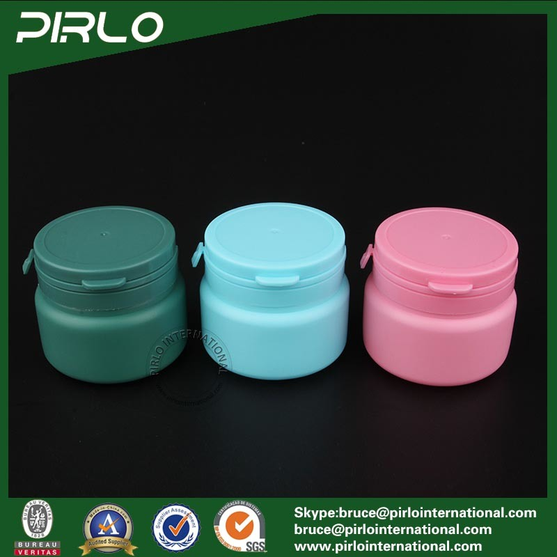 120ml 3oz Blue Color Plastic Bottle with Tear off Cap for Packing Chewing Gum Bubble Gum Candys Use