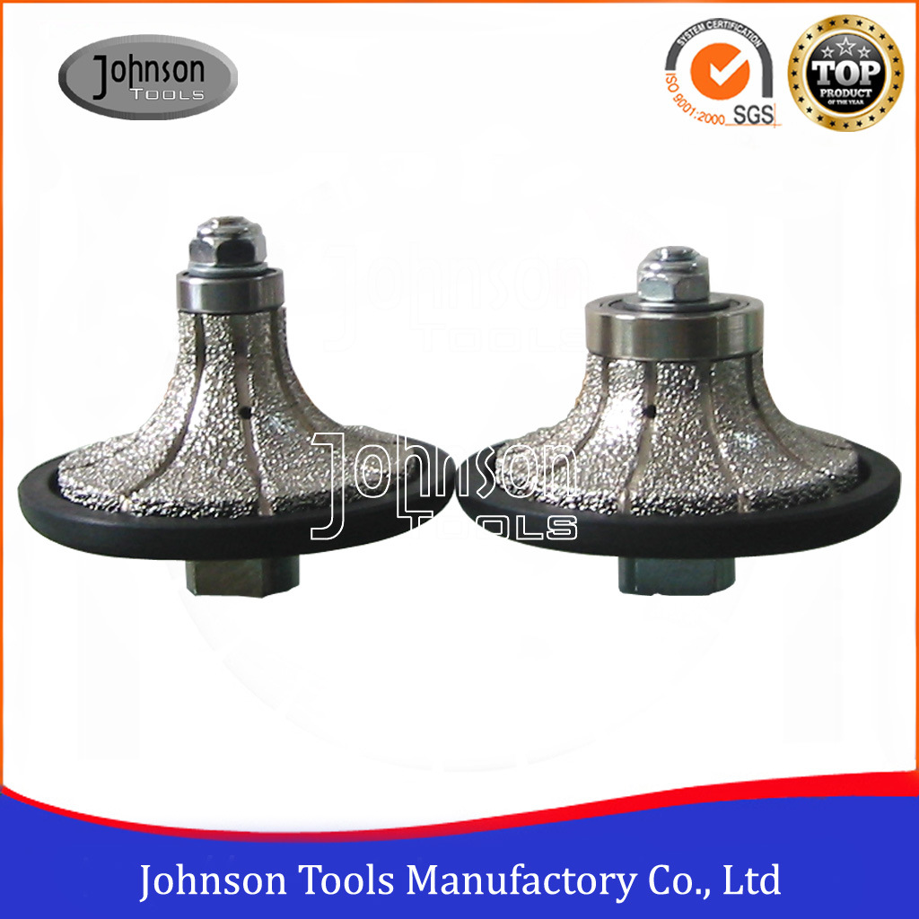65-105mm Half Bullnose Vacuum Brazed Hand Profile Wheel for Stone Profiling