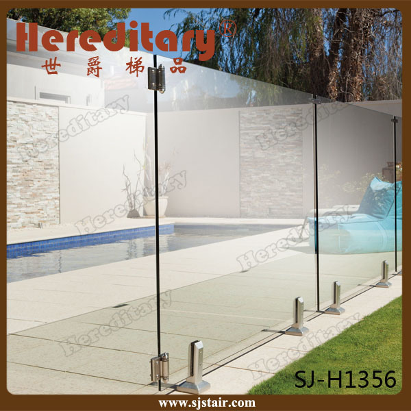 U Channel Aluminum Frameless Glass Railing for Balcony (SJ-H928)