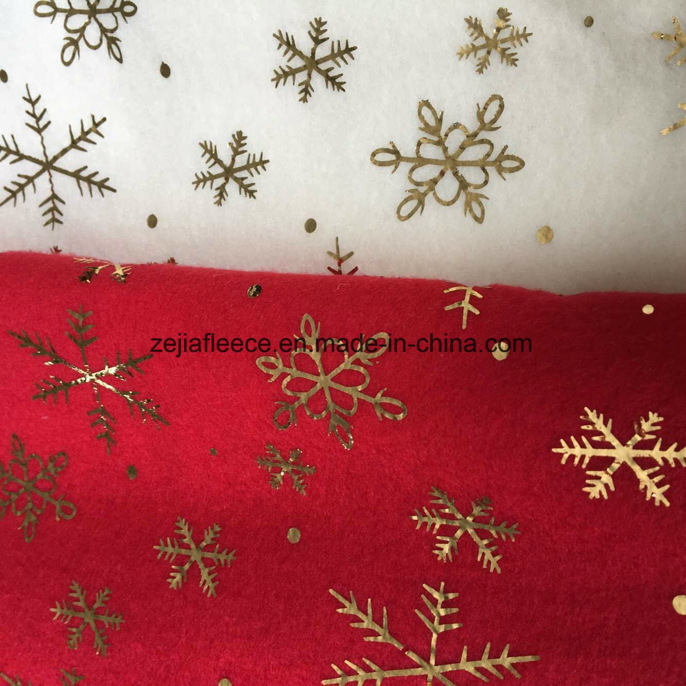 Gold Hot Stamping Fleece Fabric for Decoration