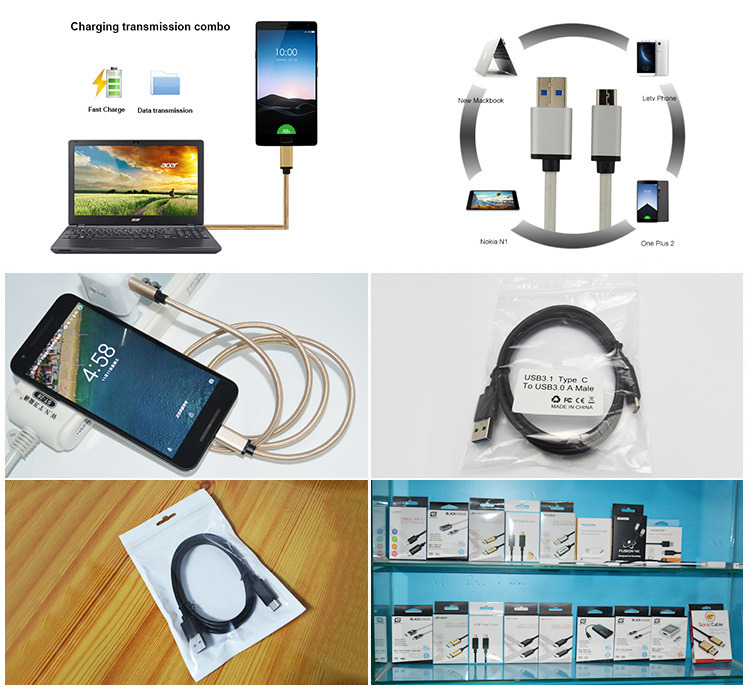 Dual Color Type-C to USB 3.0A Charging Data Transfer Cable