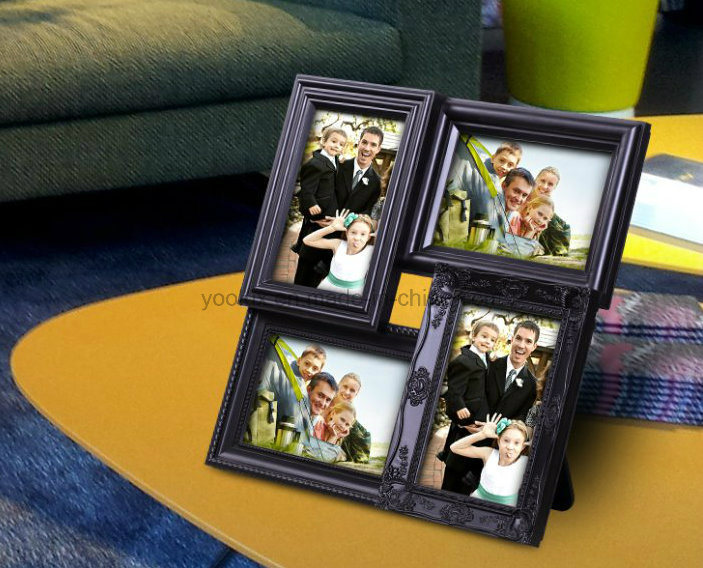 Plastic Multi Openning Home Decoration Collage Love Photo Frame