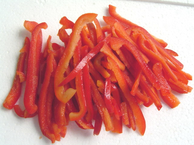 china red pepper slices   china frozen red pepper slices iqf red