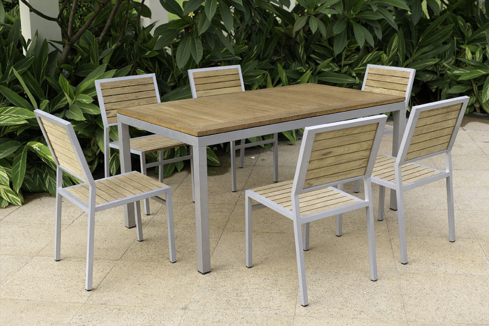 China Outdoor Dining Furniture Teak Wood China Outdoor
