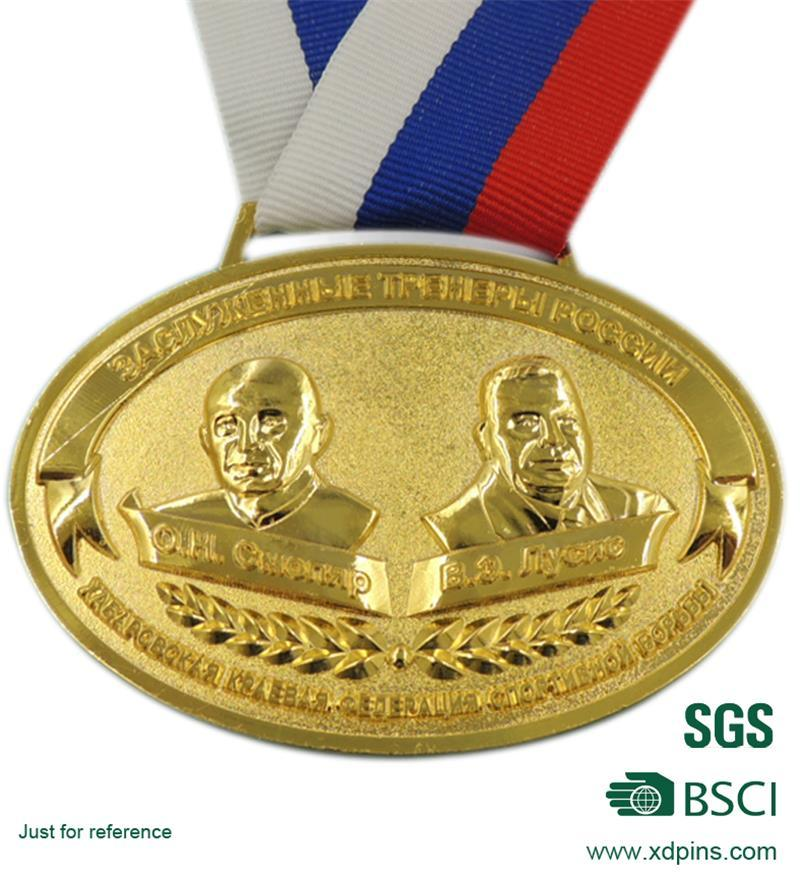 Gold Metal with Customized Design Medal