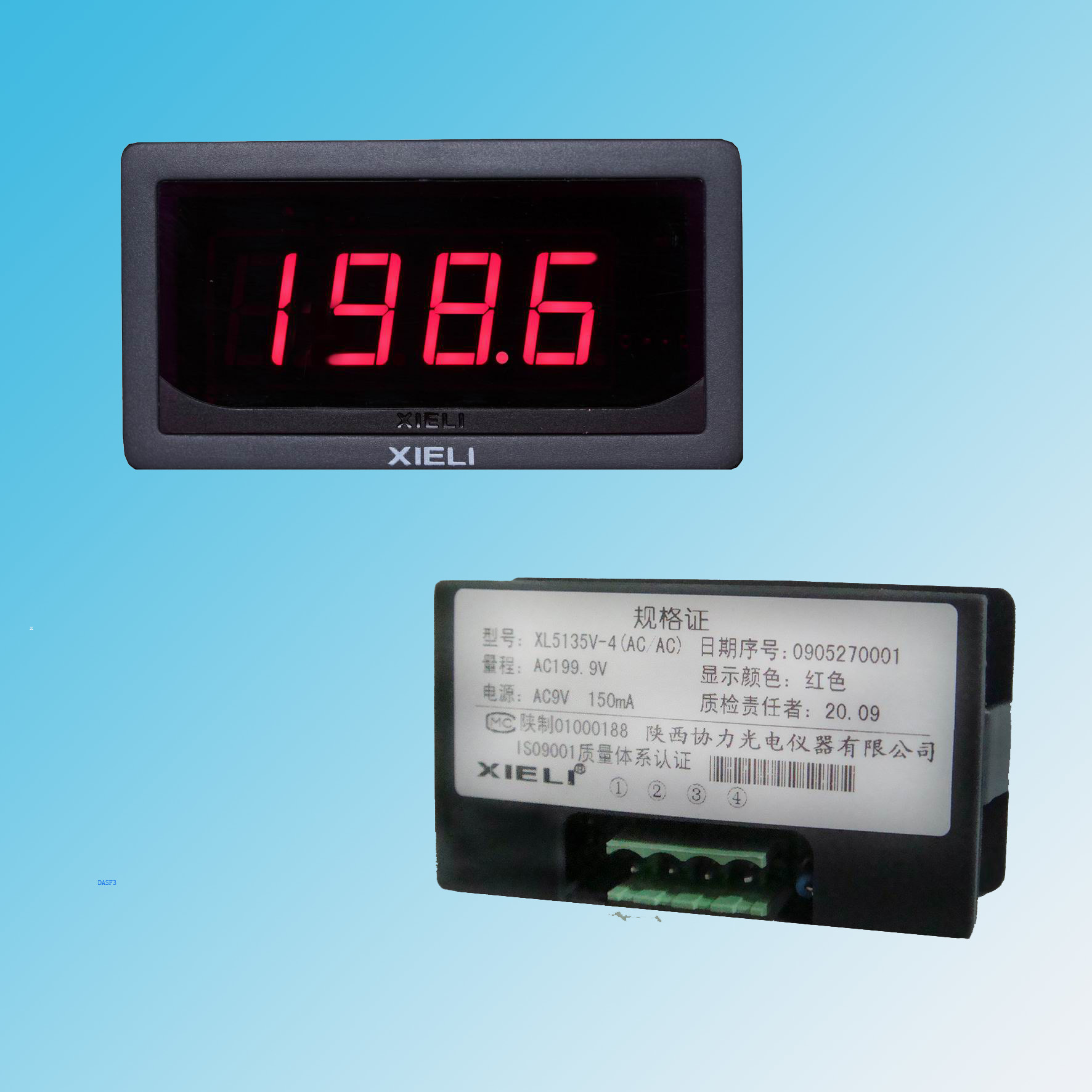 Digital Volt Meter : China dc digital voltmeter panel meter