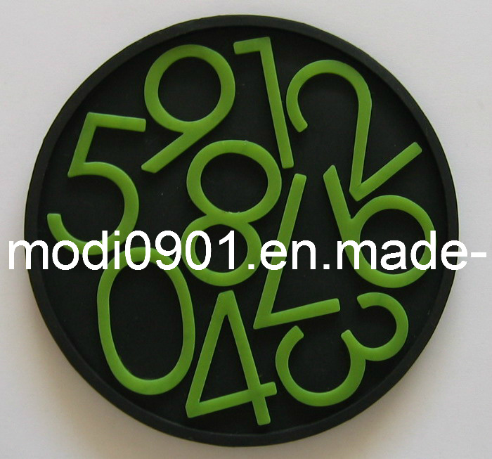 Coaster- Rubber Pad Military PVC Silicone 3D Patch Soft Custom Rubber Coaster