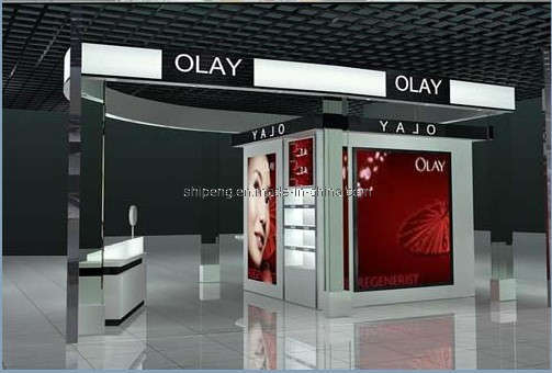 China Cosmetic Shop Interior (SP-RD) - large image for Shop Design