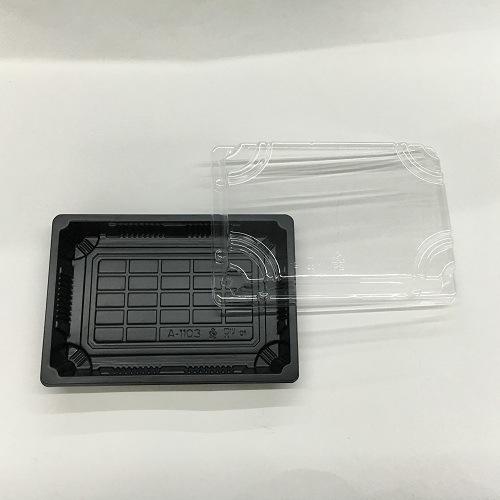 Disposable Take out Plastic Black Antifog Sushi Box