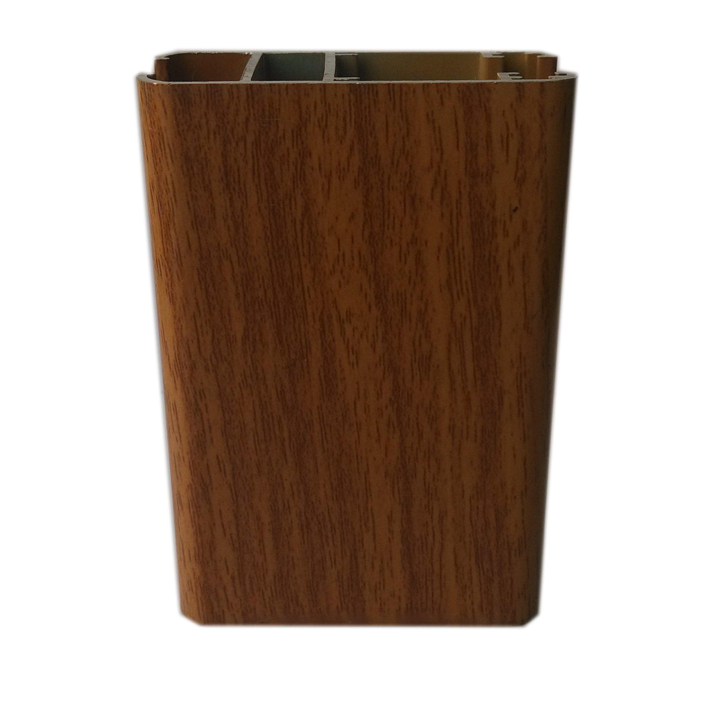 China Wood Grain Trsanfer Profile Aluminium Extrusion Profile for Window Door Industry