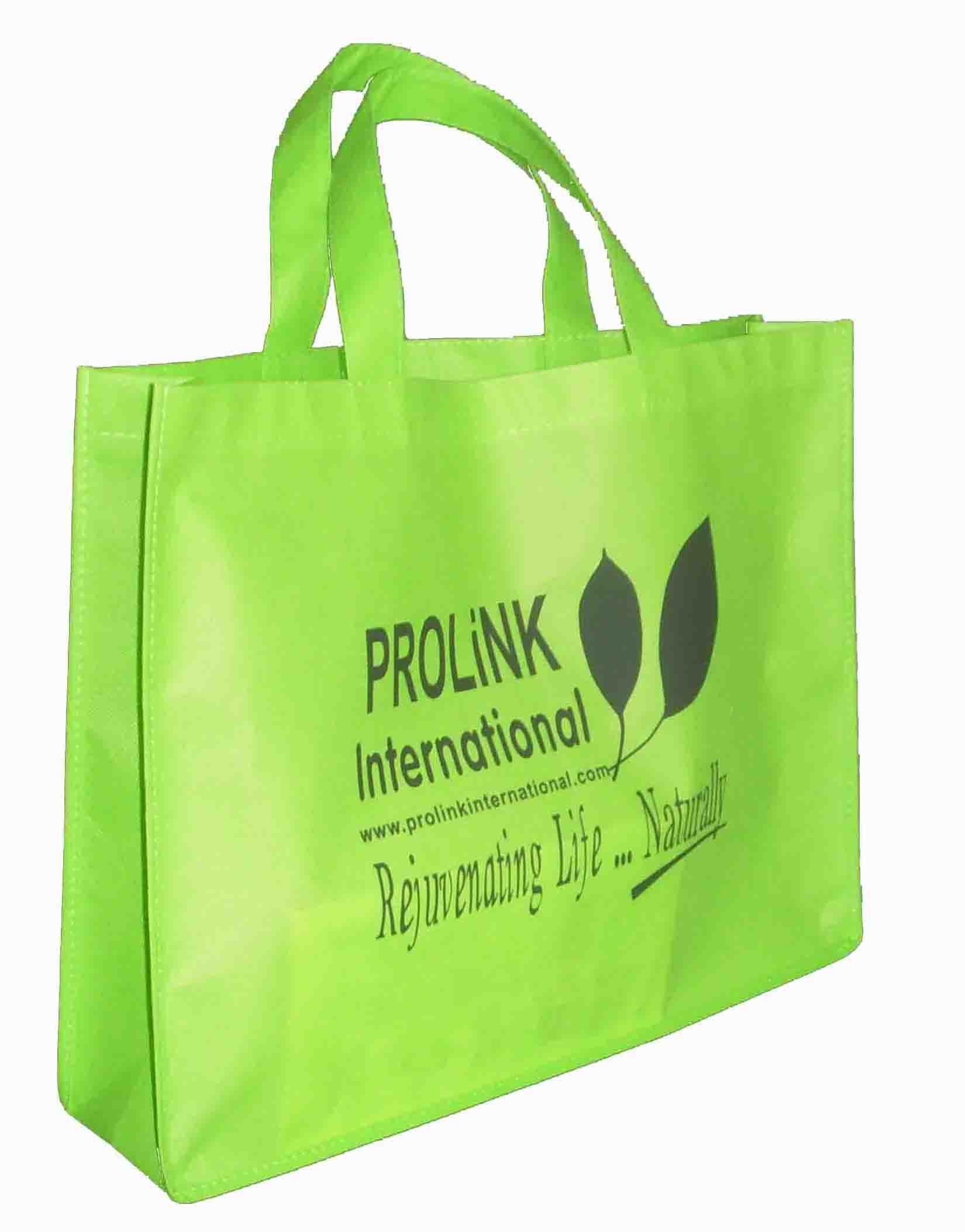 Eco Green Bag, with Silk Screen Printing