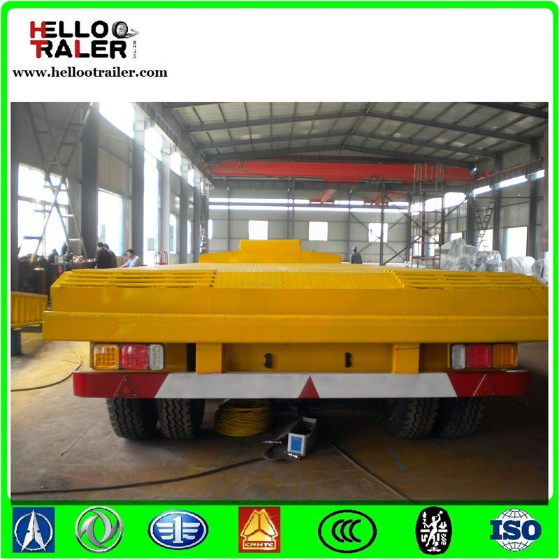 Fuwa BPW Axle Tri Axle 100 Ton Low Bed Trailer