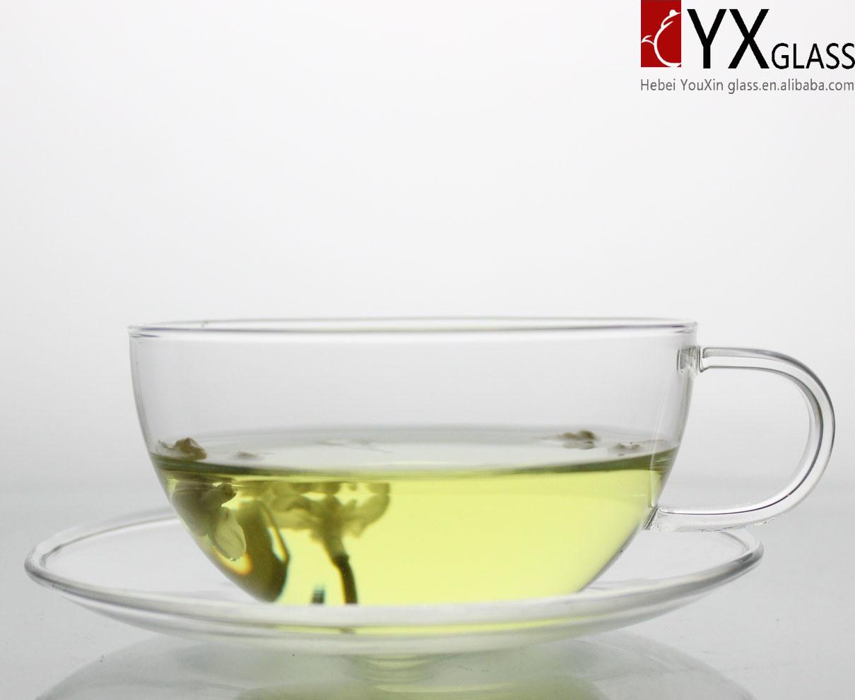 250ml Glass Tea Cup with Glass Saucer/Glass Tea Mug/ Glass coffee Cup with Saucer/Glass Coffee Mug