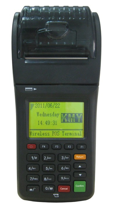 Protable GPRS Wireless POS with Built-in Thermal Printer