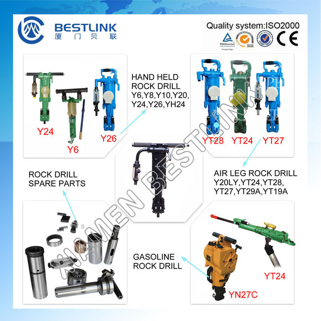 Sales Mining Pneumatic Hand Hammer Rock Drill