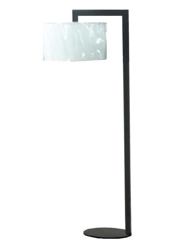 Modern Metallic Floor Lamp with Fabric Shade (WHF-212)