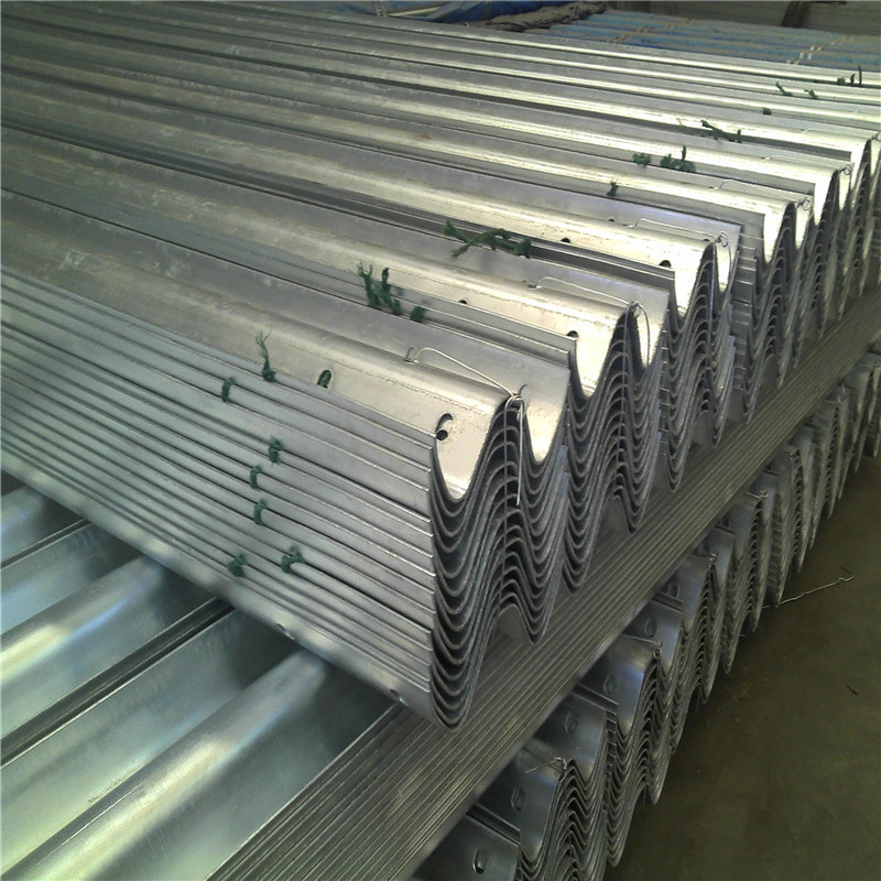 Aashto M180 Galvanized Steel Highway Guardrail with Steel Post