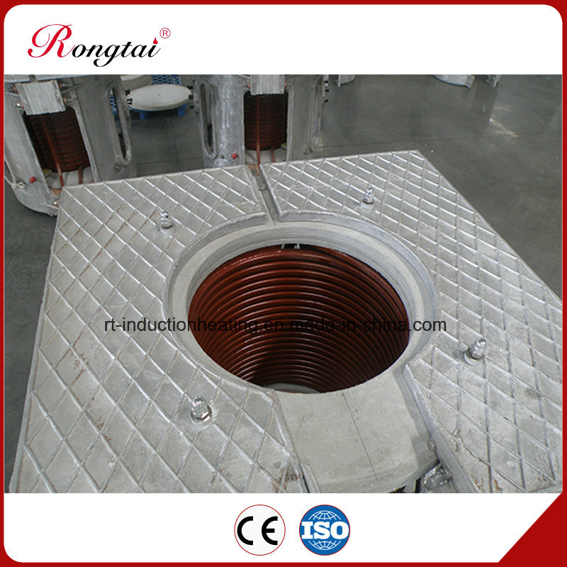 250kg Aluminum Shell Induction Melting Furnace
