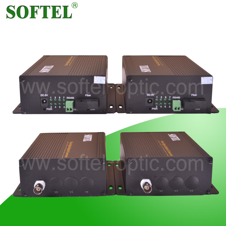 4 Channel Ethernet Fiber Media Converter