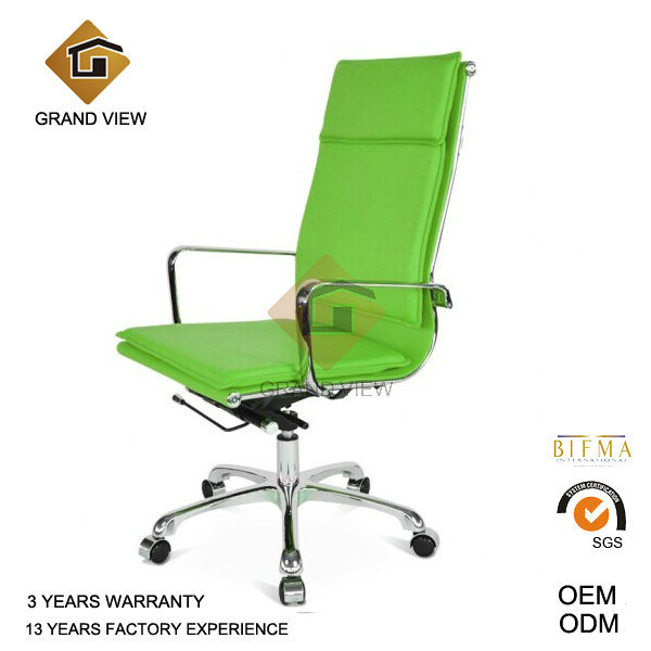 Green Leather High Quality Swivel Chair and Recliner (GV-OC-H305)