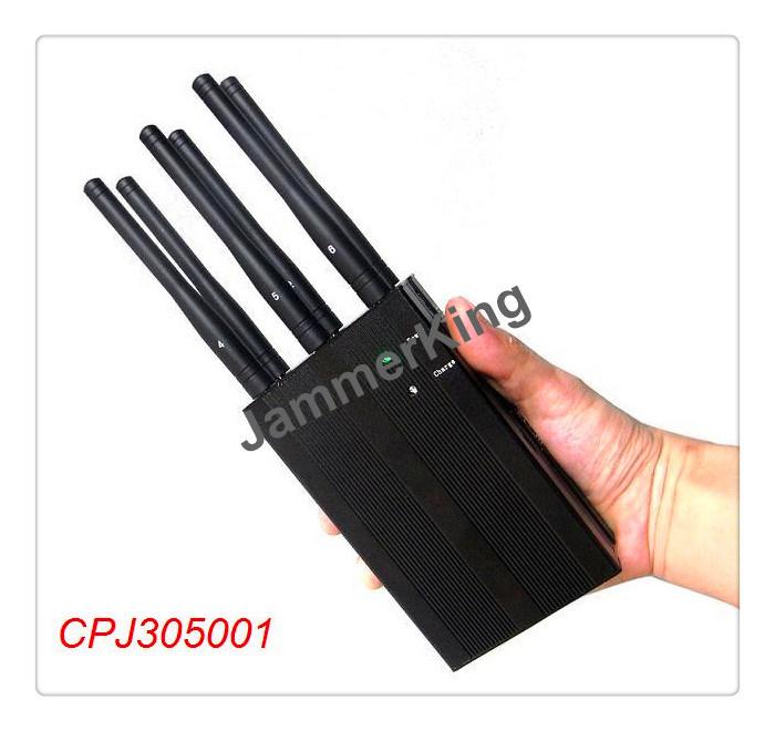 Handheld 6 Bands Jammer for All 2g 3G 4G Phone; Powerful 6 Antenna Cellphone Signal Blocker;