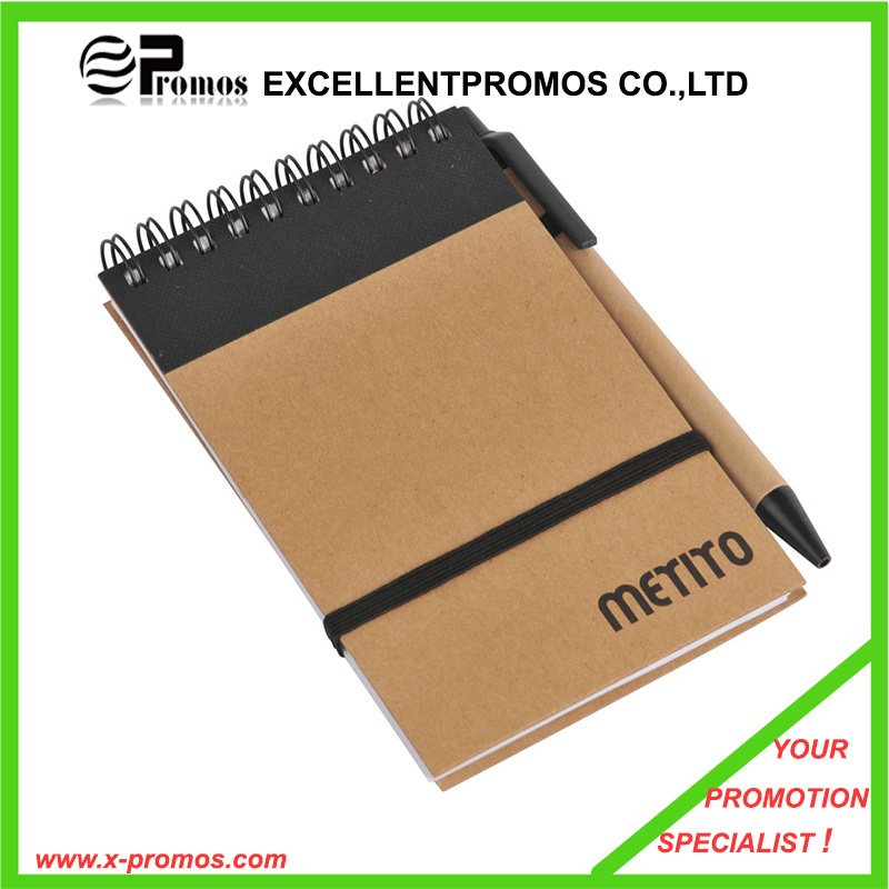 Cheap Custom Promotional Recycled Notebook with Pen (EP-N1083)