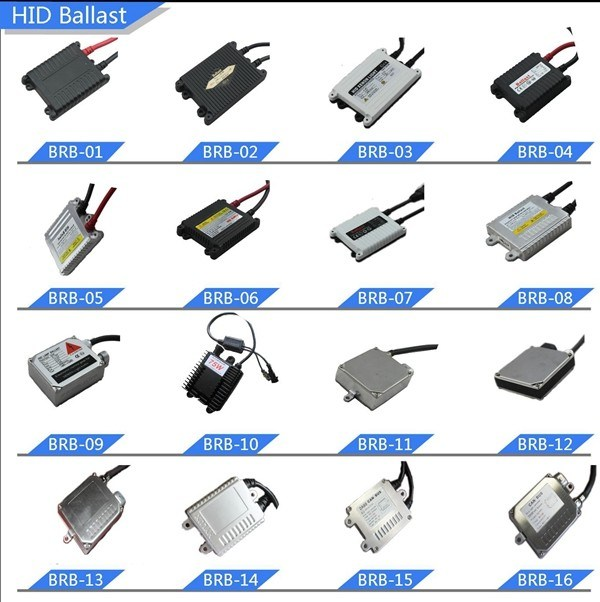 HID Xenon Light 35W/55W/75W with Slim Ballast 12V & 4300k/5000k/6000k