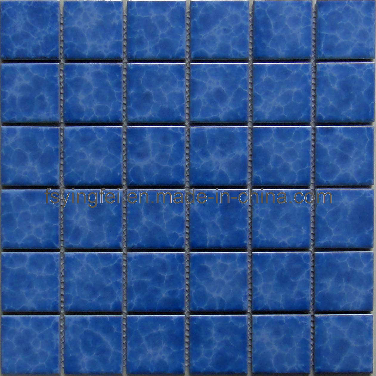 Blue Glazed Mosaic Swimming Pool Tile (Y48K03) - China Swimming ...