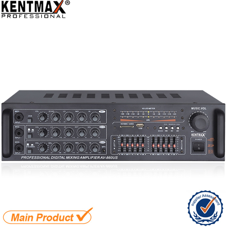 KTV Power Sound Box Karaoke System Amplifier with Equalizer