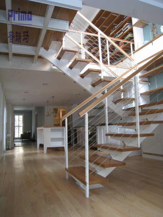 China Modern Design Of Stairs DIY Steel Stairs Space Saver Stairs Pr L1059 on u shaped stair