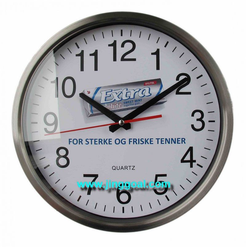 Stainless Steel Wall Clock (JEC562)