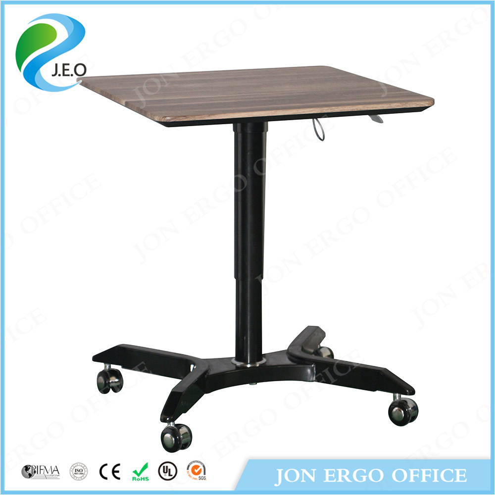 Height Adjustable Gas Lifting Laptop Standing Desk with Wheels (JN-SD115)