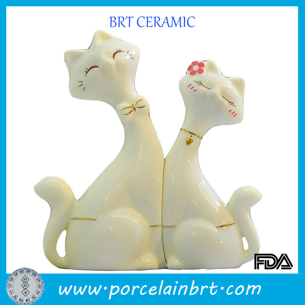 Wholesale Ceramic Decoration Cat Lovers Wedding Gift