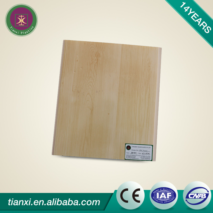 PVC Ceiling Tiles Ceiling Boards with Light Wood Color