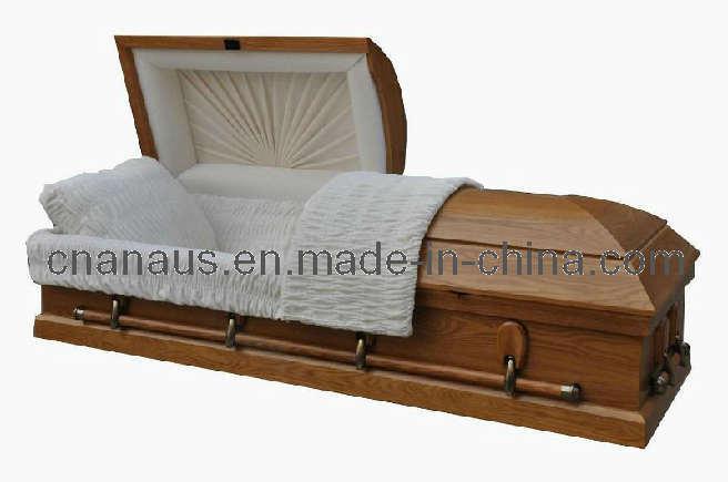 Us Style Solid Oak Wood Casket (5050005)
