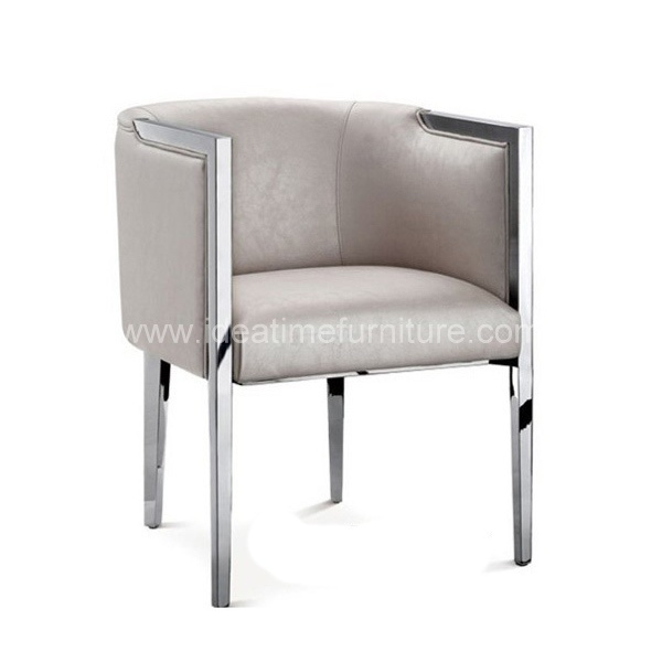 china modern stainless steel metal dining chair cm 718