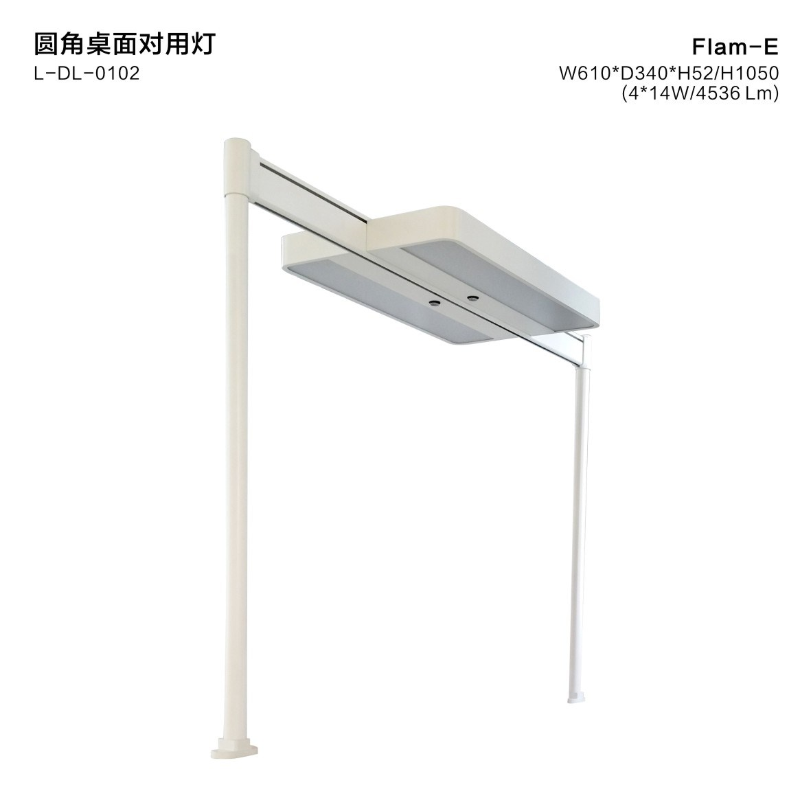 Uispair 10W 32V 4000k CRI 75-85 Extrusion Aluminum Alloy Table Desk Lamp