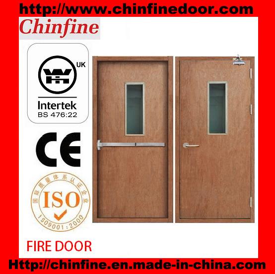 Wooden Fire Door with Bs Certificate (CF-F018)
