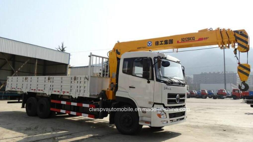 12t Telescopic Straight Boom Lorry Crane Truck Mounted with Crane