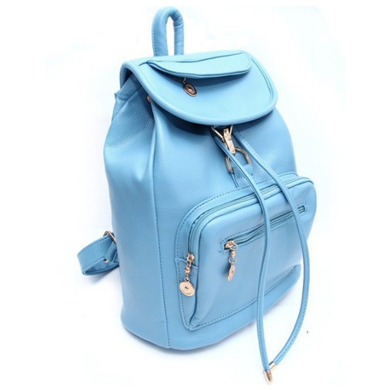 Fashion Designer Travel PU Leather School Bag