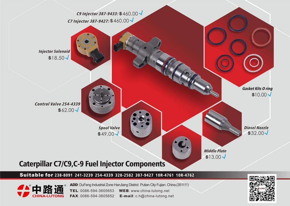 C7/C9 Cat Injectors for 10r4762, 387-9433, 328-2574,