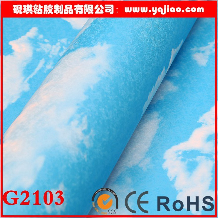 Blue Sky and White Clouds PVC Self-Adhesive Waterproof Wallpaper