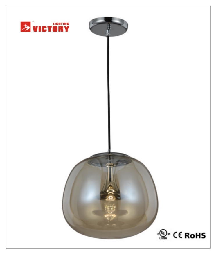 LED Modern Round Glass Pendant Lamp for Decorative Home