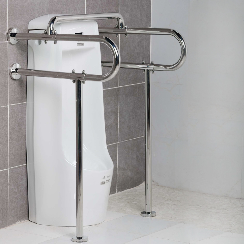 Stainless Steel Flanged Toilet Urinal Grab Bars for Disabled
